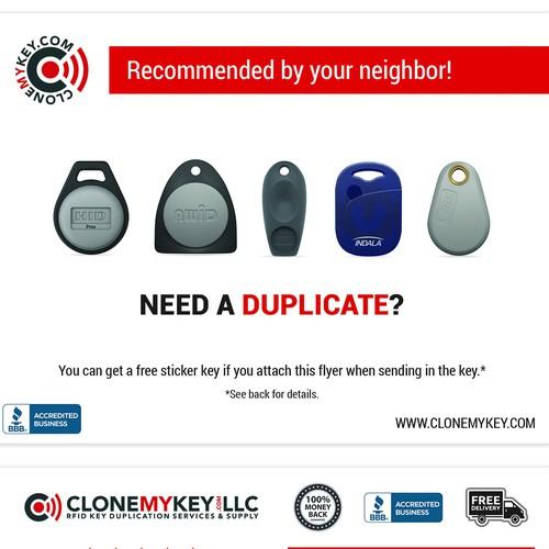 CloneMyKey - Print Ad Proposal