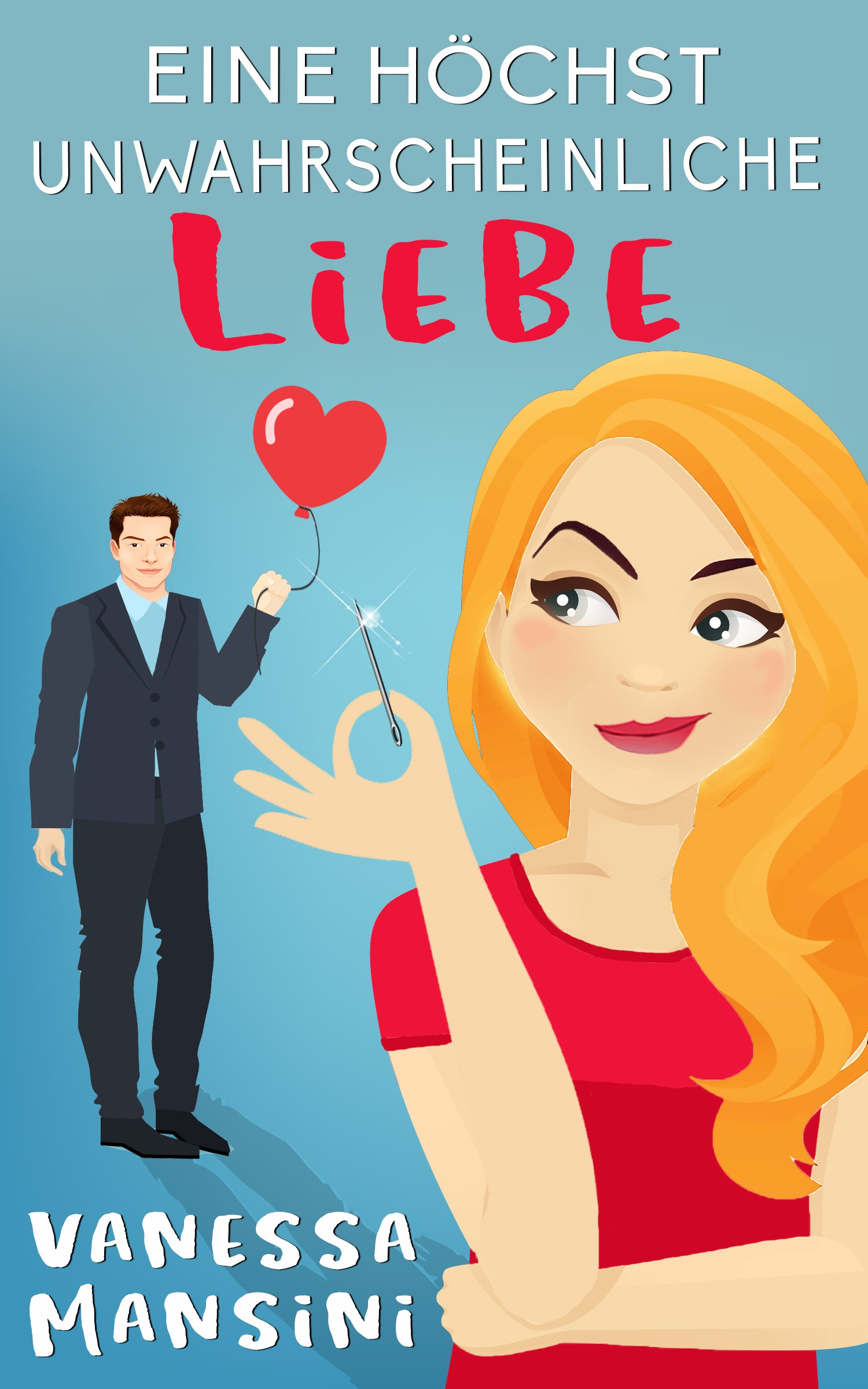 Unambiguous romantic comedy eBook cover with a twist wanted
