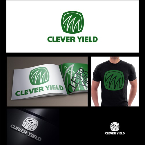 clever yield logo designs