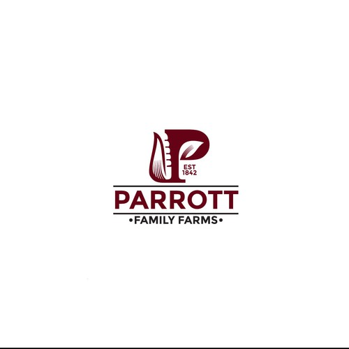 Initial logo for Parrott Family Farms