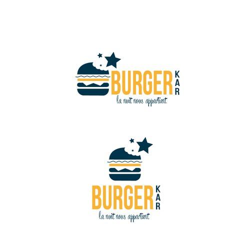 logo pour un service de livre de hamburger de nuit