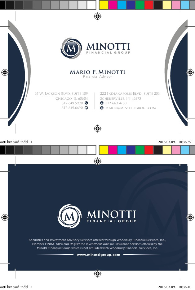 Create a business card for a wealth management group