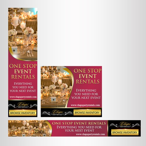 Banner ads for events agency