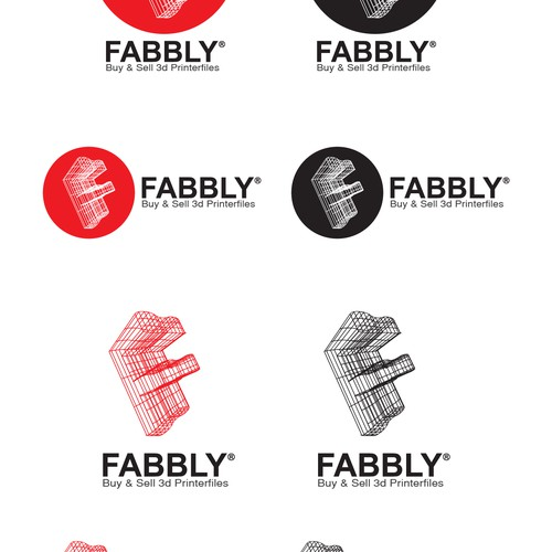 ① Logo for FABBLY.com (a 3D printing startup) ①