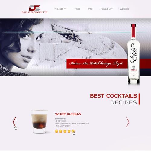 Website design for spirits company