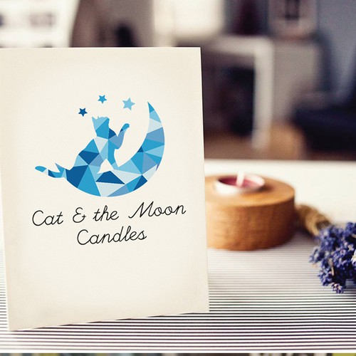 Modern logo for candle shop