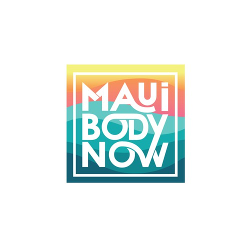 Tropical themed Maui fitness logo for Ladies' online wellness site