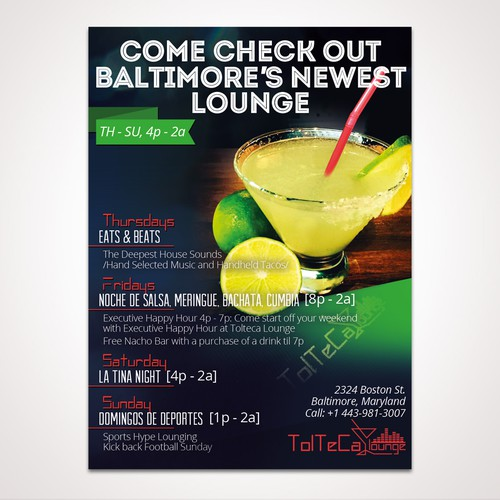 Magazine AD for Tolteca Lounge - winner entry