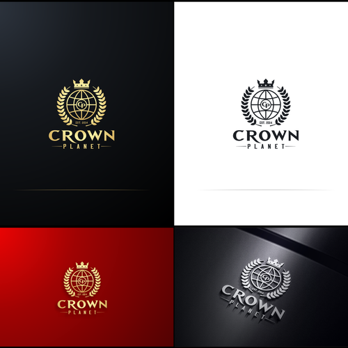 Looking for a crown holder to create a perfect logo for a hat company. Crown Planet
