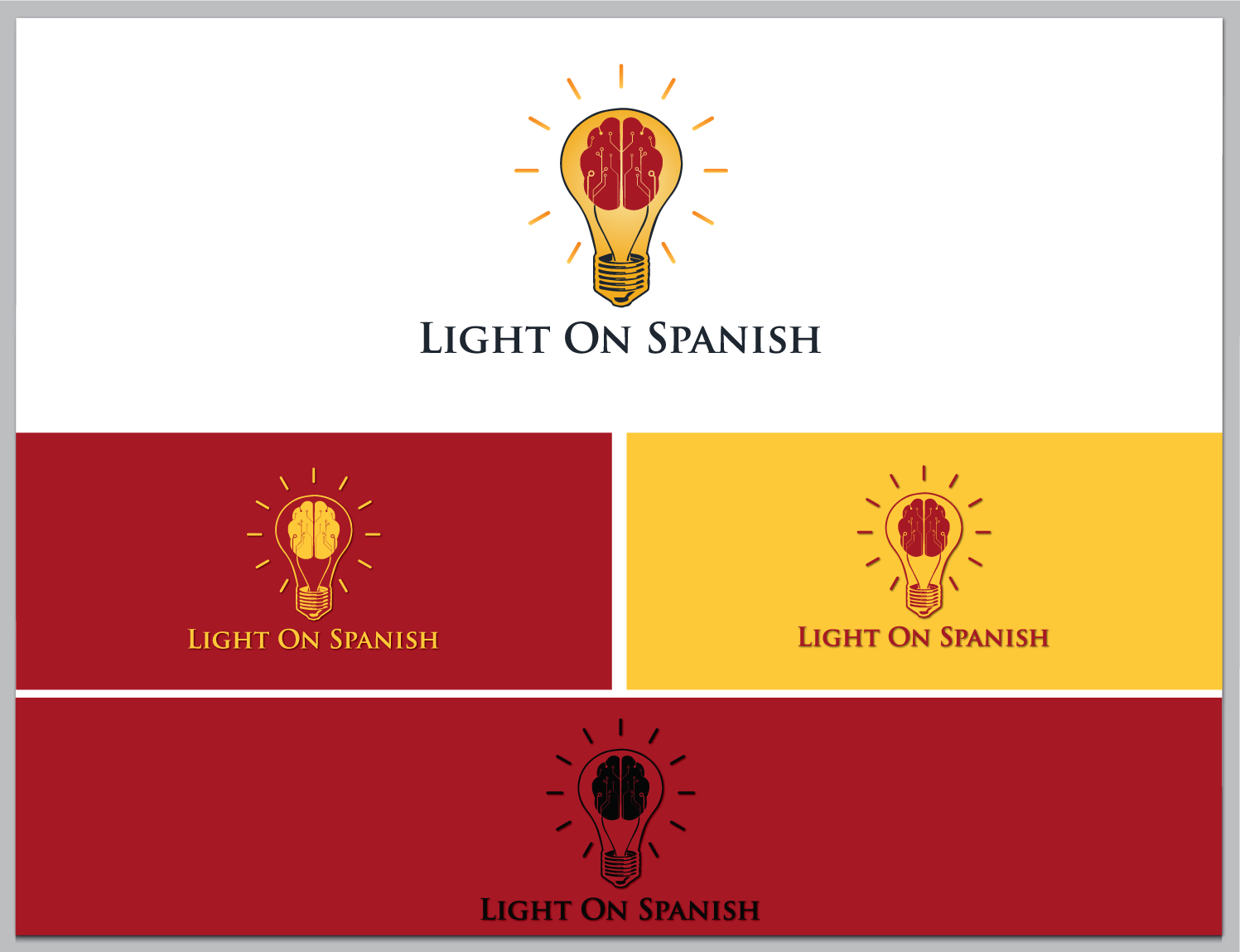 Create a great logo for a new Spanish learning site