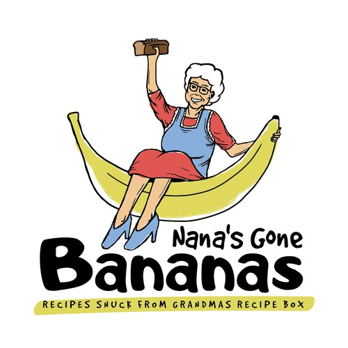 Banana bread character design