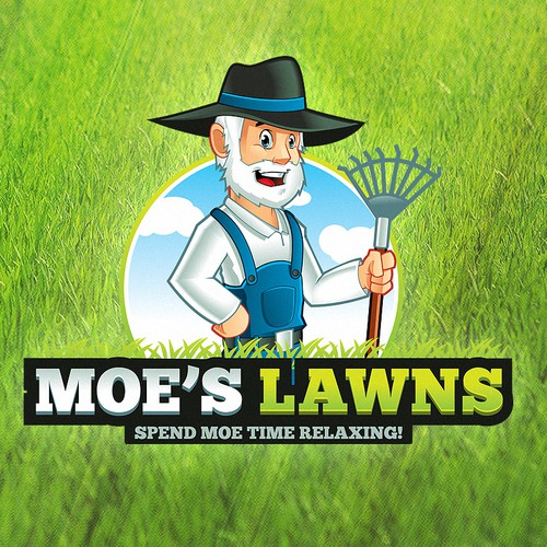 "I need a designer to build me ""Moe"" a male mascot for a lawn care company."