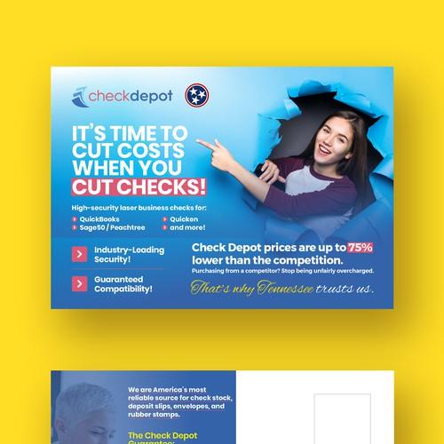 Check Depot - Postcard Design