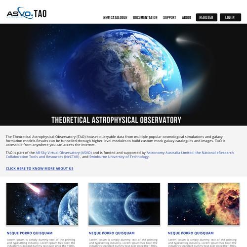 tao website redesign
