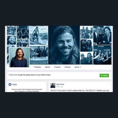 Social Media Design for Gravity Payment's CEO Dan Price