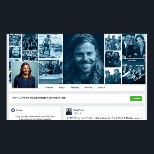 Social Media Design for Gravity Payment's CEO Dan Price