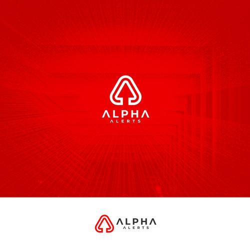 ALPHA ALERTS Logo Concept