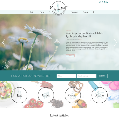 Holistic Lifestyle Blog Design