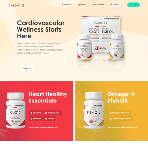 Homepage Redesign for Cardiokit company