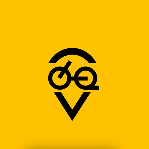 design Logo icon for our adventure cycling route guide
