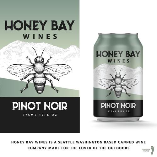 Wine can label design