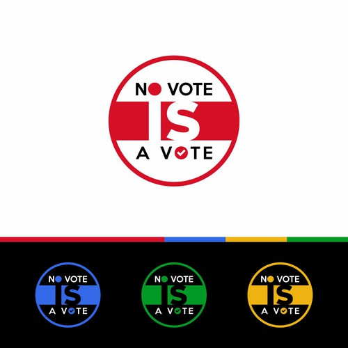 Simple Logo for No Vote IS A Vote