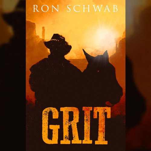 Book cover for western novel