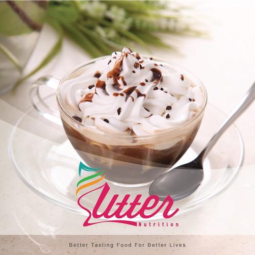 Logo concept for healthy ice cream