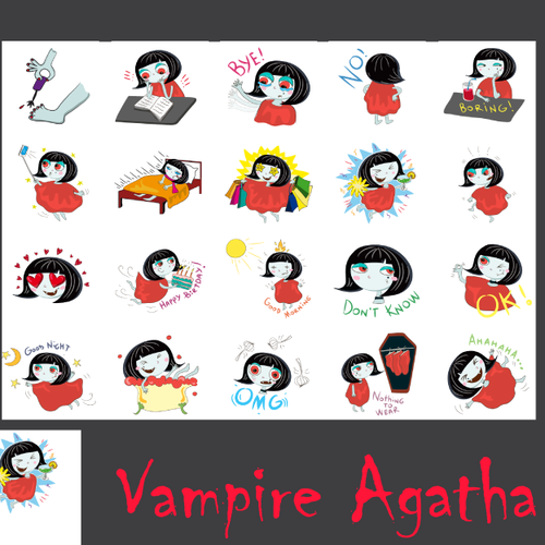 Vampire Agatha sticker pack