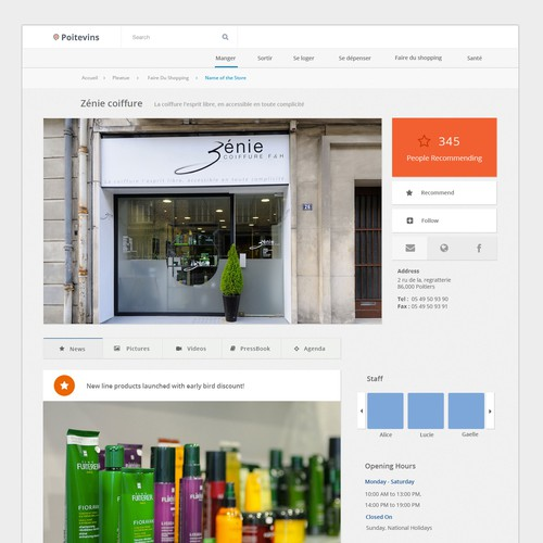 Webdesign for french local social network