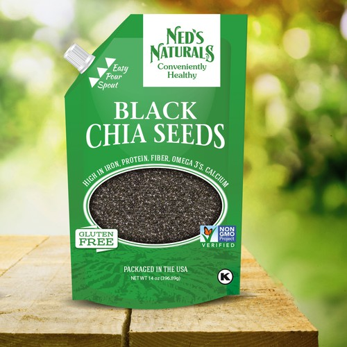 Create pouch design for a natural foods brand, Ned's Naturals!
