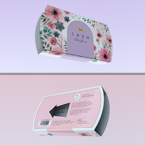 Concept for eyelashes packaging