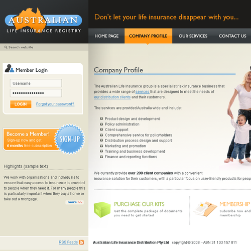 2008 - Site design for insurance company