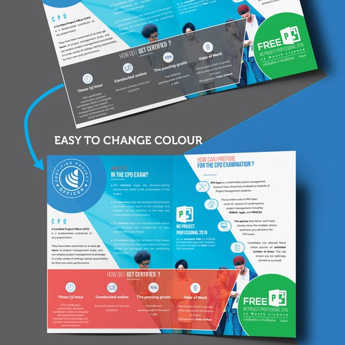 Corporate Brochure templates : colorful version