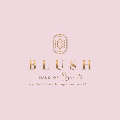 Beauty nail bar chic and iconic logo