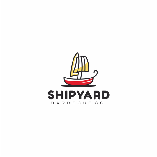 Simple and smart concept for Shipyard Barbecue Co.