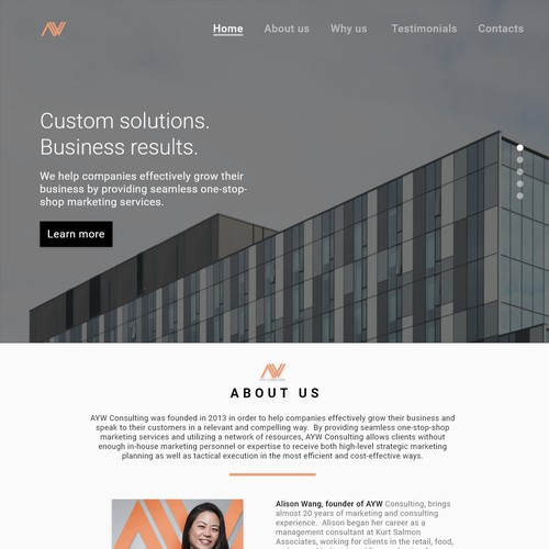 Design concept for AYW Consulting