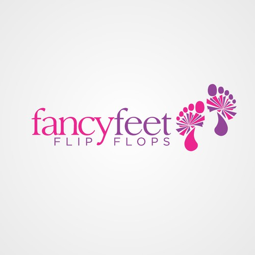 logo for Fancy Feet Flip Flops