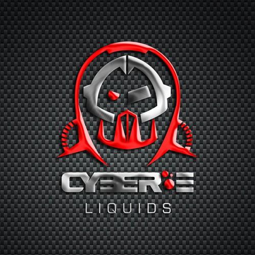 Create the next logo and business card for Cyber E Liquids