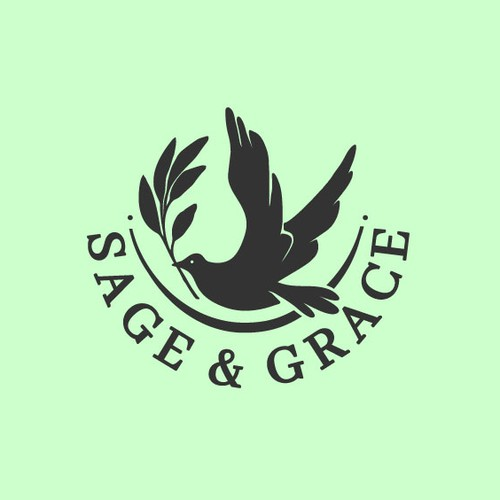 Classic peaceful logo for funeral organizing website