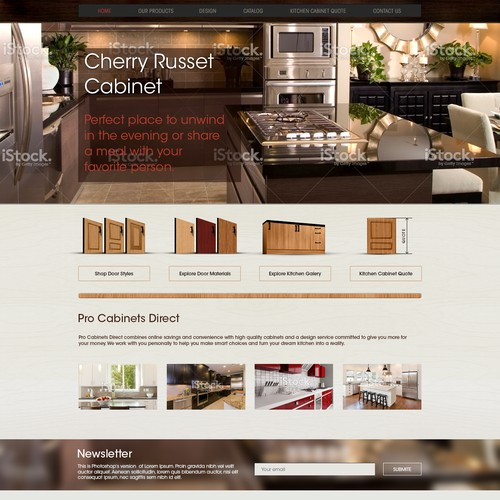 Website Design for Pro Cabinets Direct