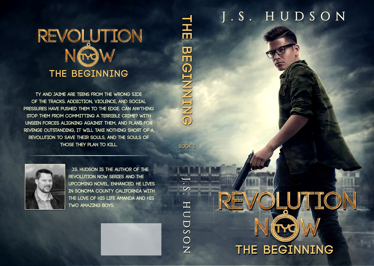 """2 Part Series """"Revolution Now"""" Print & Ebook cover design for each book"""