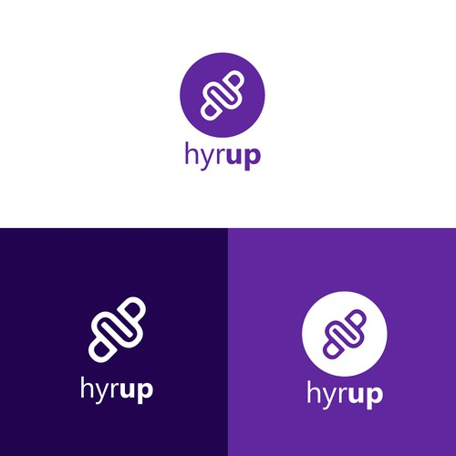 Simple and elegant logo design for hyrup company