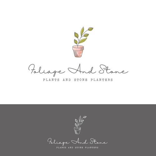 Logo concept for a stone planter