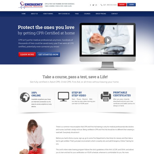 Online Medical Training Website