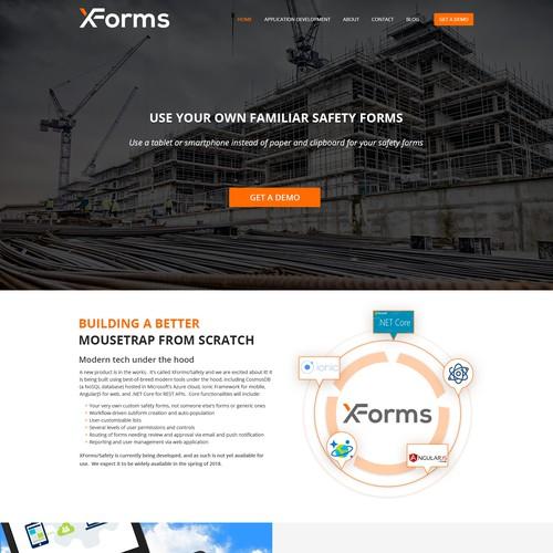 XForms Home Page Design