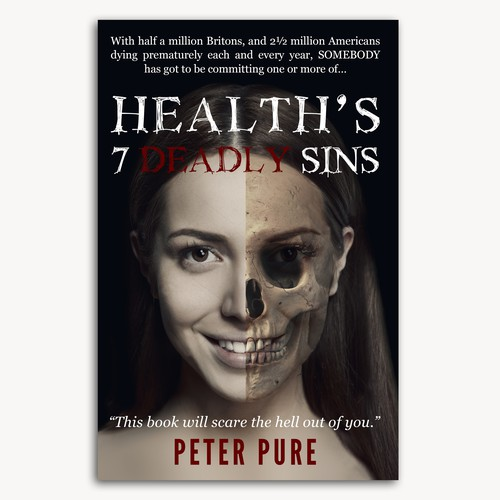 Horror themed cover for Health book