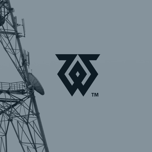 conceptual logo for cellular tower maintenance company