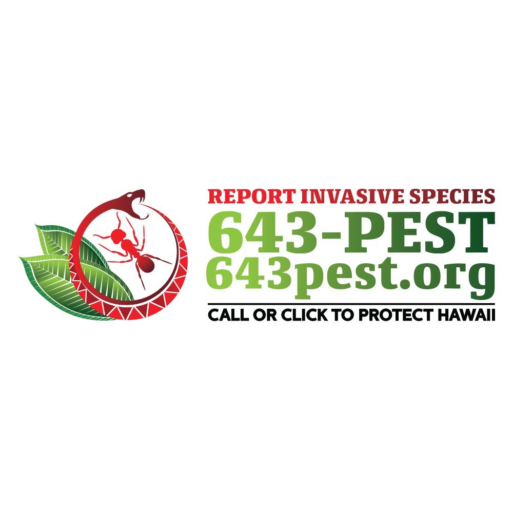 Create and invasive species reporting system logo to protect Hawaii!
