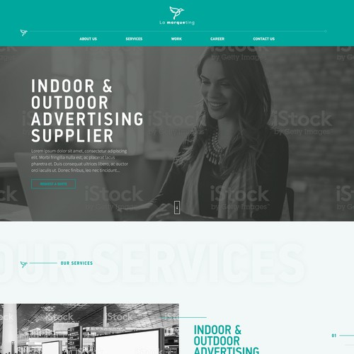 Design an exciting new website for an advertising supplier